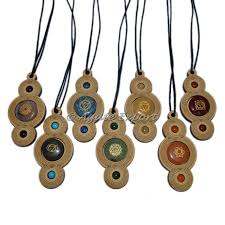 engraved pendants wooden 7 chakra engraved pendants agate export