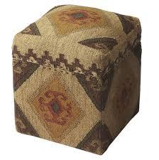 Wood Storage Ottoman Bohemian Jute And Wood Storage Ottoman Woodwaves