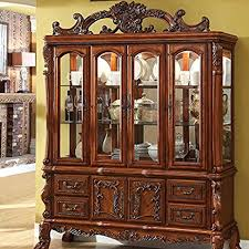 Hutch China Amazon Com Medieve English Style Antique Oak Finish Formal China