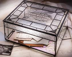engraved memory box glass memory box etsy