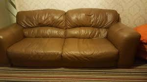 Brown Leather Sofa Dfs Dfs Brown Leather Sofas In Sheffield South Gumtree