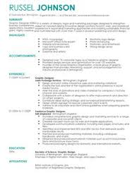 graphic designer cv example for marketing livecareer