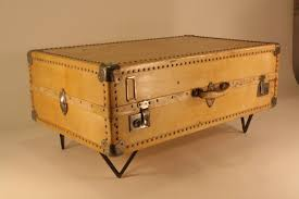 Suitcase Coffee Table Antique Parchment Suitcase Coffee Table At 1stdibs