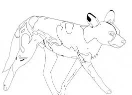 african wild dog coloring animals town free african wild