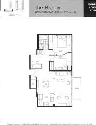 Den Floor Plan Mozo Lofts 333 Adelaide St East 2 Bedroom And Den Floor Plan
