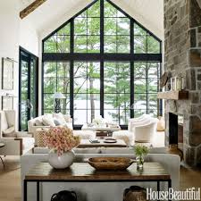 Home Interior Design Living Room Photos by Home Tour Anne Hepfer U0027s Rustic Modern Lake House Modern Rustic