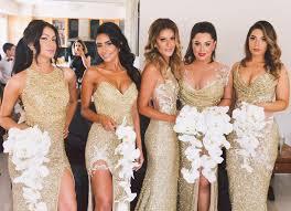 gold bridesmaid dresses 20 aisle bridesmaids we re crushing on aisle