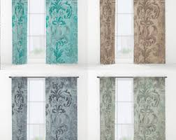Duck Egg Blue Damask Curtains Bohemian Drapes Etsy