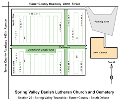 South Dakota County Map Spring Valley Danish Cemetery Home Page
