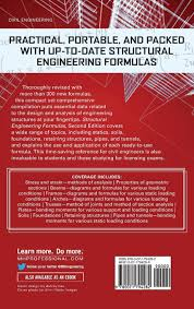structural engineering formulas second edition amazon co uk