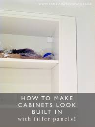 how to put filler on kitchen cabinets ikea cabinets look expensive hint use diy ikea pax
