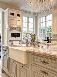 Ivory Colored Kitchen Cabinets Cream Colored Cabinets With Brown Glaze Google Search Kitchen