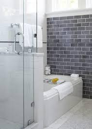 Travertine Bathtub Atlanta Grey Travertine Tile Bathroom Traditional With Vintage Tub