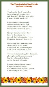 randomly reading the thanksgiving day parade a poem by