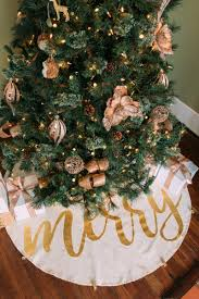 gold tree skirt gold merry jingle bell christmas tree skirt s
