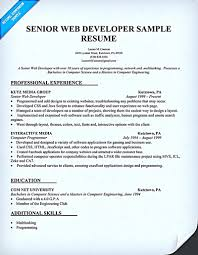 Sample Resume For Experienced Web Designer by Sample Web Developer Resume Free Resume Example And Writing Download