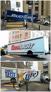 bud light truck driving jobs light beer can t handle this sf hill funny