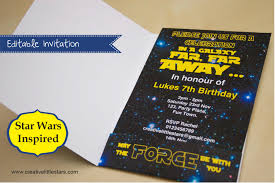 printable star wars inspired invitation creative little parties