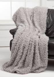 Faux Fur Throw Grey Faux Fur Throw Blanket Home Furniture