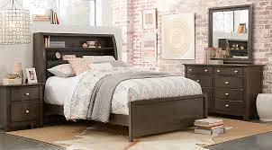 Bookcase Bedroom Sets Santa Cruz Gray 5 Pc Twin Bookcase Bedroom Teen Bedroom Sets Colors