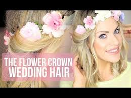 flower girl hairstyles uk wedding hairstyle flower crown hair tutorial youtube