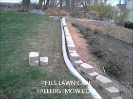 garden wall with french drain youtube