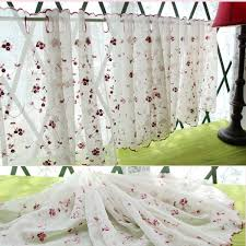 Daisy Kitchen Curtains by Aliexpress Com Buy White Sheer Curtain Embroidery Sunflower