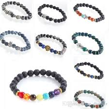 natural beads bracelet images 2018 natural beads bracelets agate lava rock stone charm bracelet jpg