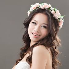 flower hair accessories flower garland floral bridal headband hairband wedding prom hair
