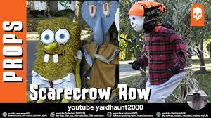 halloween coasters scarecrow row halloween street props contest youtube