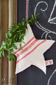 grain sack star christmas ornaments sew a fine seam