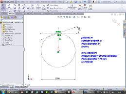 tutorial how to model involute gears in solidworks and show