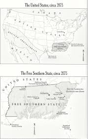 Map Of United States During Civil War by Map Of The United States During The Second Civil War Circa 2075