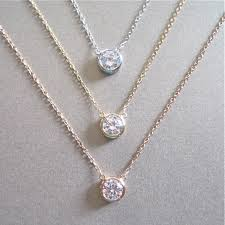 floating diamonds necklace images Solitaire diamond necklace floating in etsy awwake me jpg