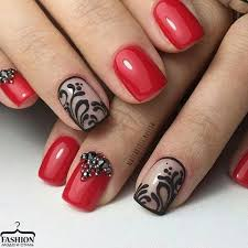 nails manicure and red image nail manicure and manicure