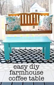 Style A Coffee Table Easy Farmhouse Style Diy Coffee Table