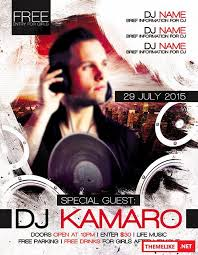 special guest dj kamaro flyer psd template fb cover all design