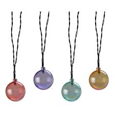 Solar String Outdoor Lights by Moonrays Solar Powered Led Pearlescent Outdoor Globe String Light