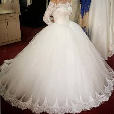 poofy wedding dresses wd0826 the shoulder sleeves princess bridal gown