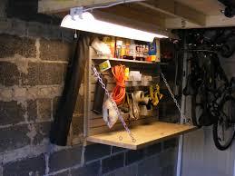 custom folding workbench for a single car garage in the garage