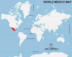 mexico in the world map mexico in the world map major tourist attractions maps