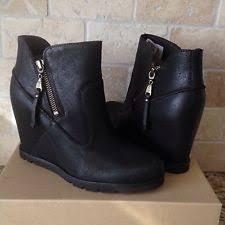 womens wedge boots australia ugg australia zip platforms wedges boots for ebay
