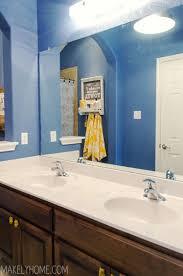 Framing Builder Grade Bathroom Mirror Upgrading A Bathroom Mirror With An Easy To Use Mirrormate Frame