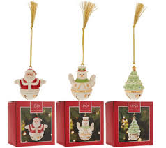 lenox set of 3 porcelain sleigh bell ornaments with gift boxes