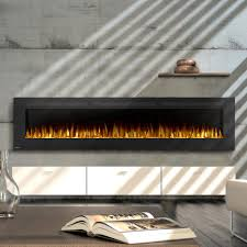 napoleon allure 100 inch linear wall mount electric fireplace