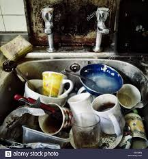 Kitchen Sink Full Of Dirty Dishes Stock Photo Royalty Free Image - Dirty kitchen sink