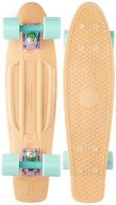 penny skateboards standard skateboards peach 22 inch amazon co