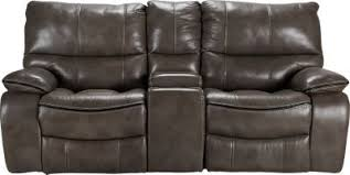 cindy crawford recliner sofa cindy crawford home gianna gray leather reclining sofa leather