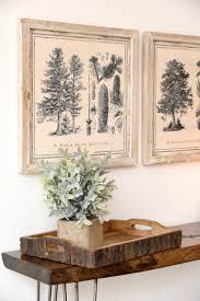 tree illustration framed farmhouse cabin wall art set of 4