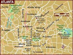 map usa lonely planet map of atlanta